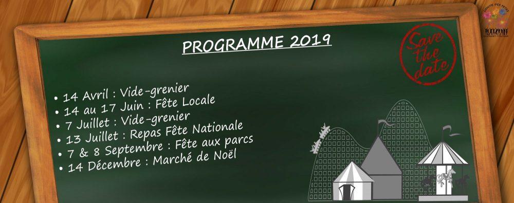 Programme 2019 Comité des fêtes