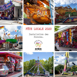 Fête Locale 2020 - Installation forains
