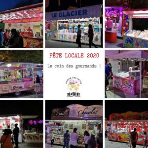 Fête Locale 2020 - Le coin des gourmands